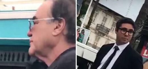 Oliver Stone y el productor venezolano Maximilien Arvelaiz | Captura de video