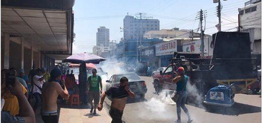 Represión en Anzoátegui | Foto: Twitter