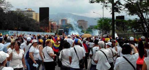 Marcha de mujeres en Aragua   Foto: Twitter