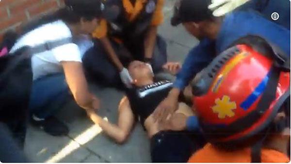 Joven arrollada en la Francisco de Miranda | Foto: Captura de video