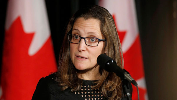 Chrystia Freeland, ministra de Asuntos Exteriores de Canadá | Foto: Archivo