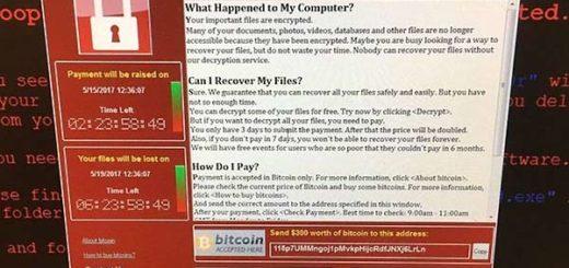 Así lucían las pantallas de los que recibieron el virus. Les exigían el pago de US$300, o sus archivos serían destruidos | PA