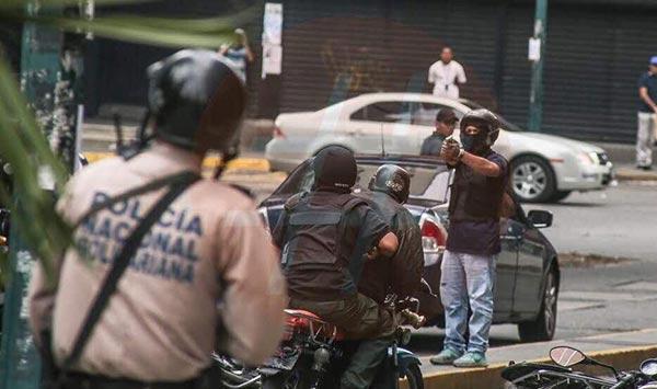 Colectivos armados en La Candelaria | Foto: Caraota Digital