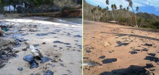 Derrame petrolero en Trinidad afecta costas de Paria