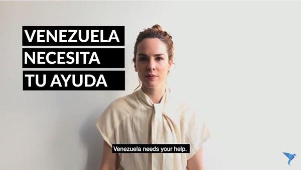 Modelo venezolana Eglantina Zingg | Imagen: Captura de video