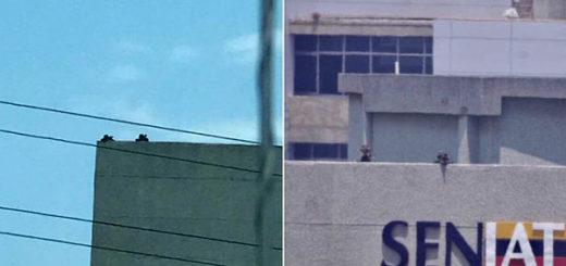 Denuncian presencia de francotiradores   Fotos: Twitter