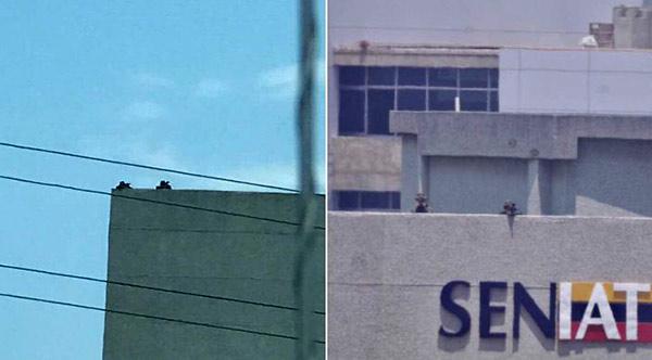 Denuncian presencia de francotiradores | Fotos: Twitter