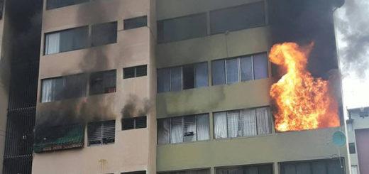 Incendio en apartamento Parque las Américas, Mérida | Foto: Twitter