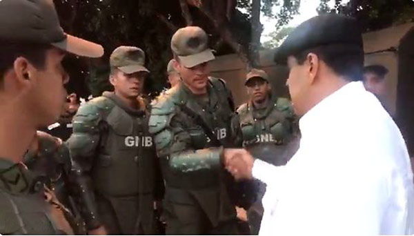 Nicolás Maduro con GNB | Foto: Captura de video