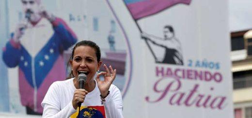 María Corina Machado, en marcha del #24Abr |Foto: Reuters