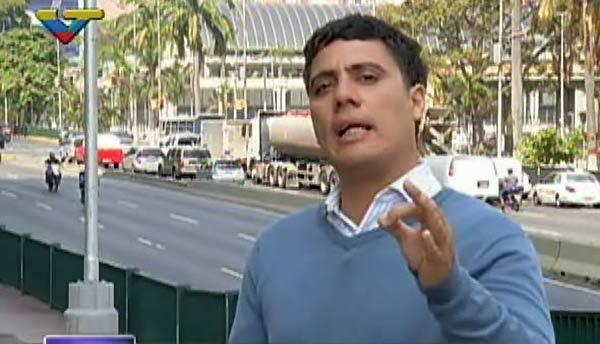 Ronald Muñoz, periodista de VTV | Foto: captura de video