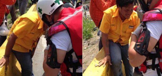 Diputado Carlos Paparoni herido en la pierna | Fotos:  @JuanRequesens