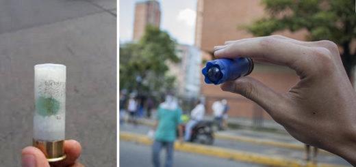 Catuchos de perdigones con metras | Fotos: Twitter/ El Pitazo