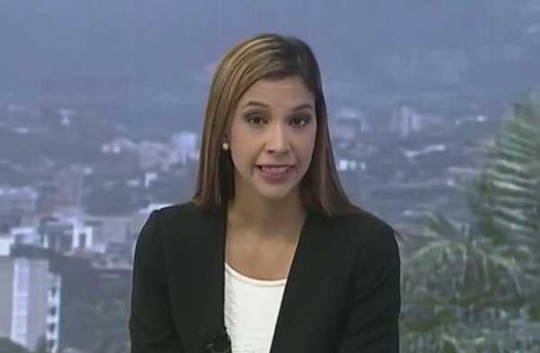 María Iginia Silva, periodista de Globovisión   Captura de video