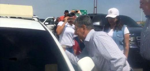 Ramos Allup encara al Sebin | Foto: Captura de video