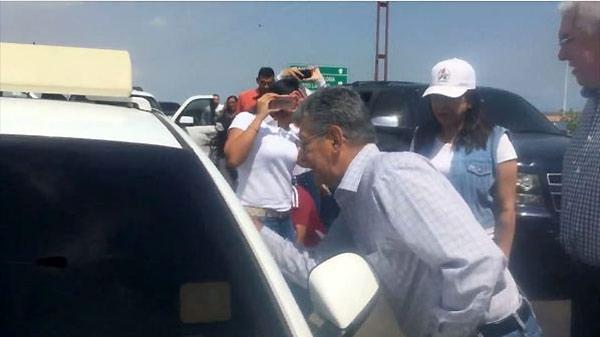Ramos Allup encara al Sebin   Foto: Captura de video
