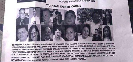 Panfletos con amenazas   Foto: El Nacional