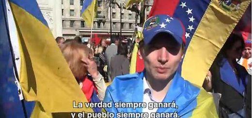 Ucranianos mandaron mensaje de solidaridad a Venezuela | Foto: Captura de video