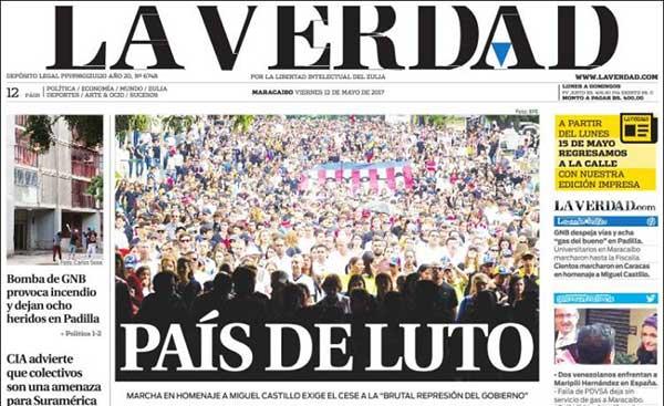 Portadas de los diarios nacionales de este viernes #12May | Créditos: kiosko.net