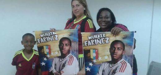 Familiares de Wuilker Fariñez. portero de La Vinotinto Sub 20   Foto: El Nacional
