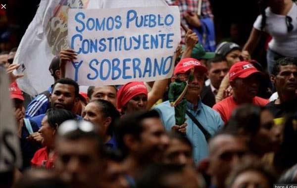 Chavistas marchan este viernes desde la Cantv en apoyo a la Constituyente | Foto: Referencial