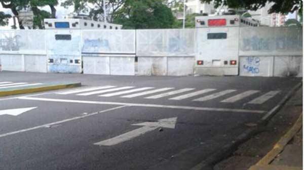 Cierran accesos al TSJ en Caracas |Foto Twitter