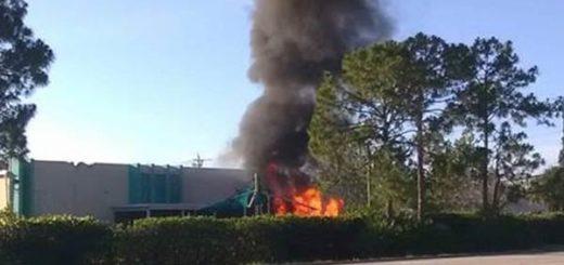 Avioneta se estrelló contra una guardería en Florida |Foto: EFE