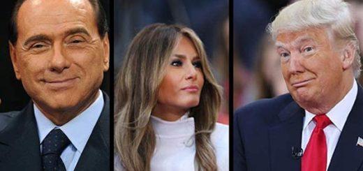 Silvio Berlusconi /Melania y Donald Trump |Composición: Notitotal