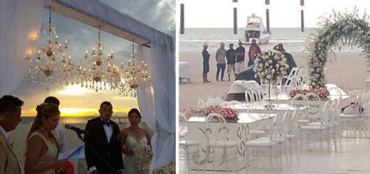 La lujosa boda de un sobrino de Cilia Flores en la Isla de Coche | Composición