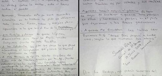 Joven detenido en El Dorado por protestar envía un mensaje a Venezuela | Composición