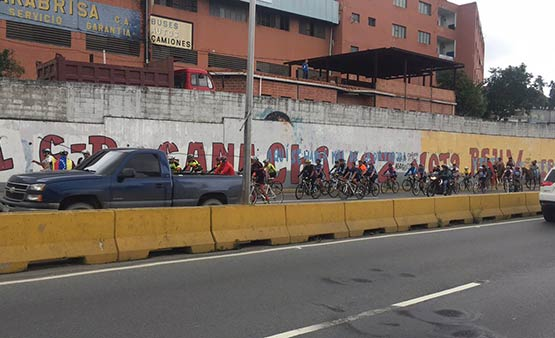Ciclistas se movilizaron por el país |Foto: Twitter