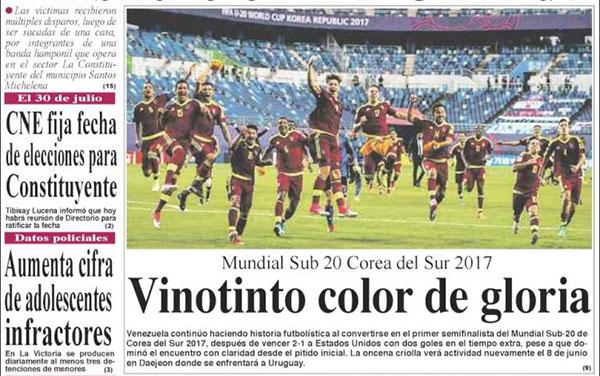 Portadas de los diarios nacionales de este #5Jun / El Clarin   Foto: kiosko.net