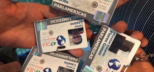 Credenciales de diputados para la OEA  Foto: Dip. Luis Florido
