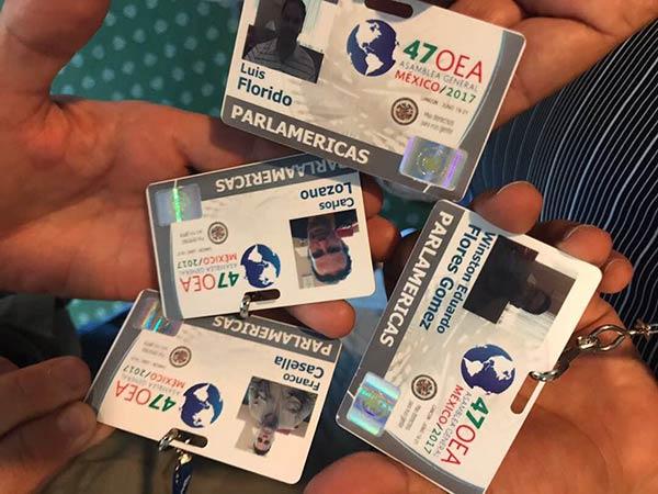 Credenciales de diputados para la OEA |Foto: Dip. Luis Florido