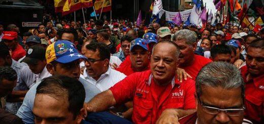 Diosdado Cabello participó en la marcha oficialista |Foto: EFE