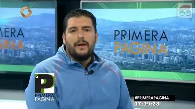 Salvador Lugo, miembro de la dirección nacional de la Juventud del Psuv   Foto: Captura de video
