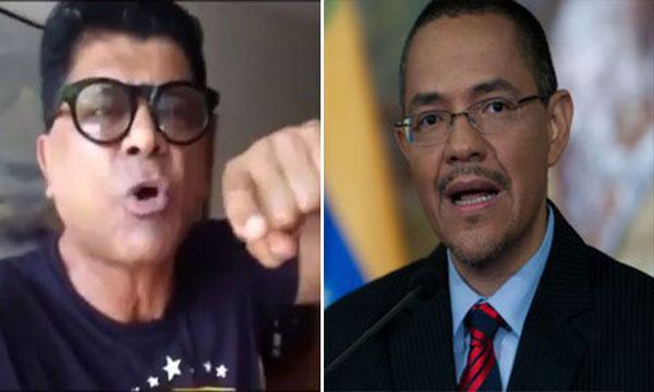 Franklin Virgüez le devuelve gesto obsceno al ministro Ernesto Villegas | Composición