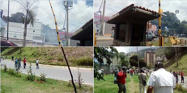 GNB y PNB reprimen a manifestantes durante plantón convocado por la oposición   Fotos: Vía Twitter