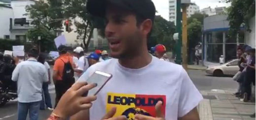 Hasler Iglesias, dirigente de Voluntad Popular (VP) | Captura de video