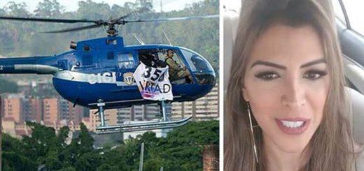 Ligia Petit reacciona a sobrevuelo del helicóptero en Caracas |Composición: Notitotal