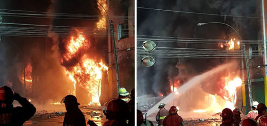 Incendio en Lima deja ocho heridos y cuatro desaparecidos | Fotos: @BomberosOBA