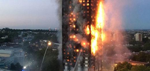 Lanzaron a niños por las ventanas para salvarlos del fuego en Londres | Foto: AFP