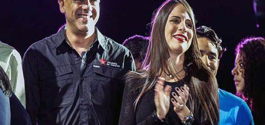 Jorge Rodríguez junto a su novia Daniela Rivas Díaz |Foto cortesía
