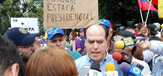 Presidente de la AN, Julio Borges en protesta #24Jun |Foto: Nota de prensa