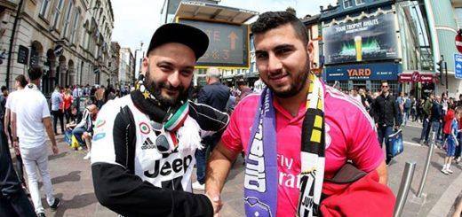 Fanáticos del Real Madrid y Juventus  Foto: EFE