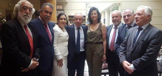 Diputada Larissa González se reunió con senadores españoles |Foto: Nota de prensa