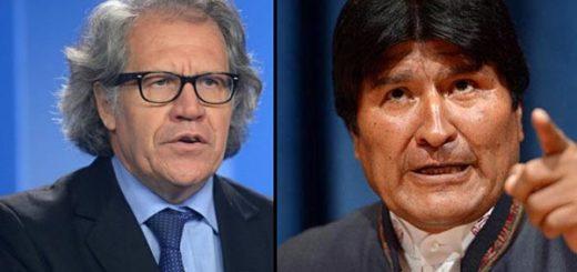 Luis Almagro/ Evo Morales | Fotos: EFE