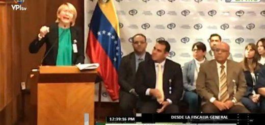 Fiscal General de la República, Luisa Ortega Díaz en rueda de prensa |Foto: @ReporteYa