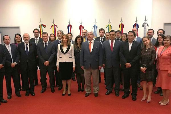Representantes del Mercosur  Foto: cortesía