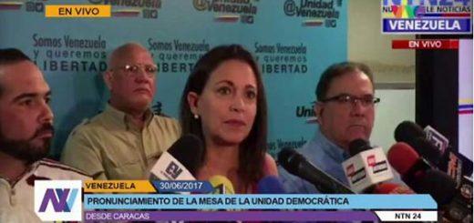 María Corina Machado, vocera de la MUD